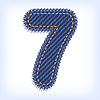 Vector clipart: jeans digit seven