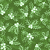 Vector clipart: Seamless pattern with holly berry