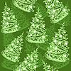 Vector clipart: Seamless pattern with christmas trees
