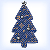 Vector clipart: Jeans christmas tree