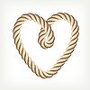 Векторный клипарт: Веревочное сердце