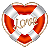 Vector clipart: Life belt with rope heart