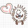 Vector clipart: Cute hedgehog