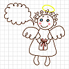 Vector clipart: Cute angel