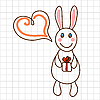 Vector clipart: Cute bunny