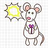 Vector clipart: Cute mouse