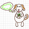 Vector clipart: Cute dog