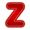 Red textile initial letter Z