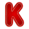 Red textile initial letter K