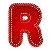 Vektor Cliparts: Roter Textil-Buchstabe R