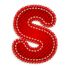 Vector clipart: Red textile initial letter S