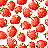 Vector clipart: Strawberry seamless background