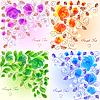 Векторный клипарт: Набор цветочных фонов