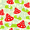 Vector clipart: Seamless pattern with mushrooms