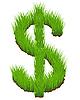 Векторный клипарт: Трава знак доллара