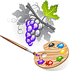 Vector clipart: Coloring the grape