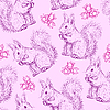 Seamless pattern with squirrels