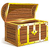 Old golden chest