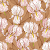 Vector clipart: Seamless pattern with iris