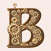 Vector clipart: Mechanical alphabet