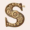 Mechanical alphabet | Stock Vector Graphics