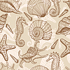 Vector clipart: Sea seamless pattern