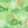 Vector clipart: Sea seamless pattern