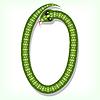 Vector clipart: Snake font. Digit 0