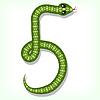 Vector clipart: Snake font. Digit