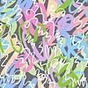 Vector clipart: Abstract art seamless pattern
