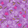 Vector clipart: Floral seamless pattern in purple colors
