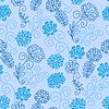 Векторный клипарт: Бесшовный цветочный узор
