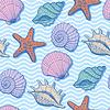 Векторный клипарт: Море бесшовные модели