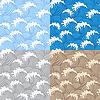 Vektor Cliparts: Samless Muster mit Wellen