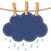 ID 3356482 | Rain cloud on clothesline | Stock Vector Graphics | CLIPARTO