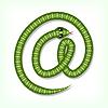 Snake Schriftart. E-Mail-Symbol