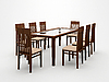 Table and chairs | Stock Illustration