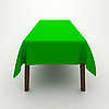 Photo 300 DPI: Table covered with tablecloth