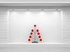 Storefront with Christmas tree | Stock Illustration