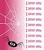 Vektor Cliparts: Spinngewebe in Form eines Herzens und Spinne