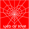 Vector clipart: Web in the form of heart