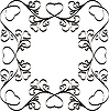 Frame with hearts | Stock Vector Graphics