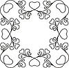 Векторный клипарт: рамка с сердечками
