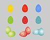 Векторный клипарт: пасхальные яйца