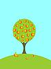 Векторный клипарт: Aplle дерево