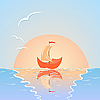 Vector clipart: ship with sail