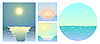 Vector clipart: Sea backgrounds