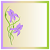 Vector clipart: Flowers irises