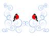 Dompfaff und Winter-Muster
