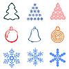 Vector clipart: christmas element